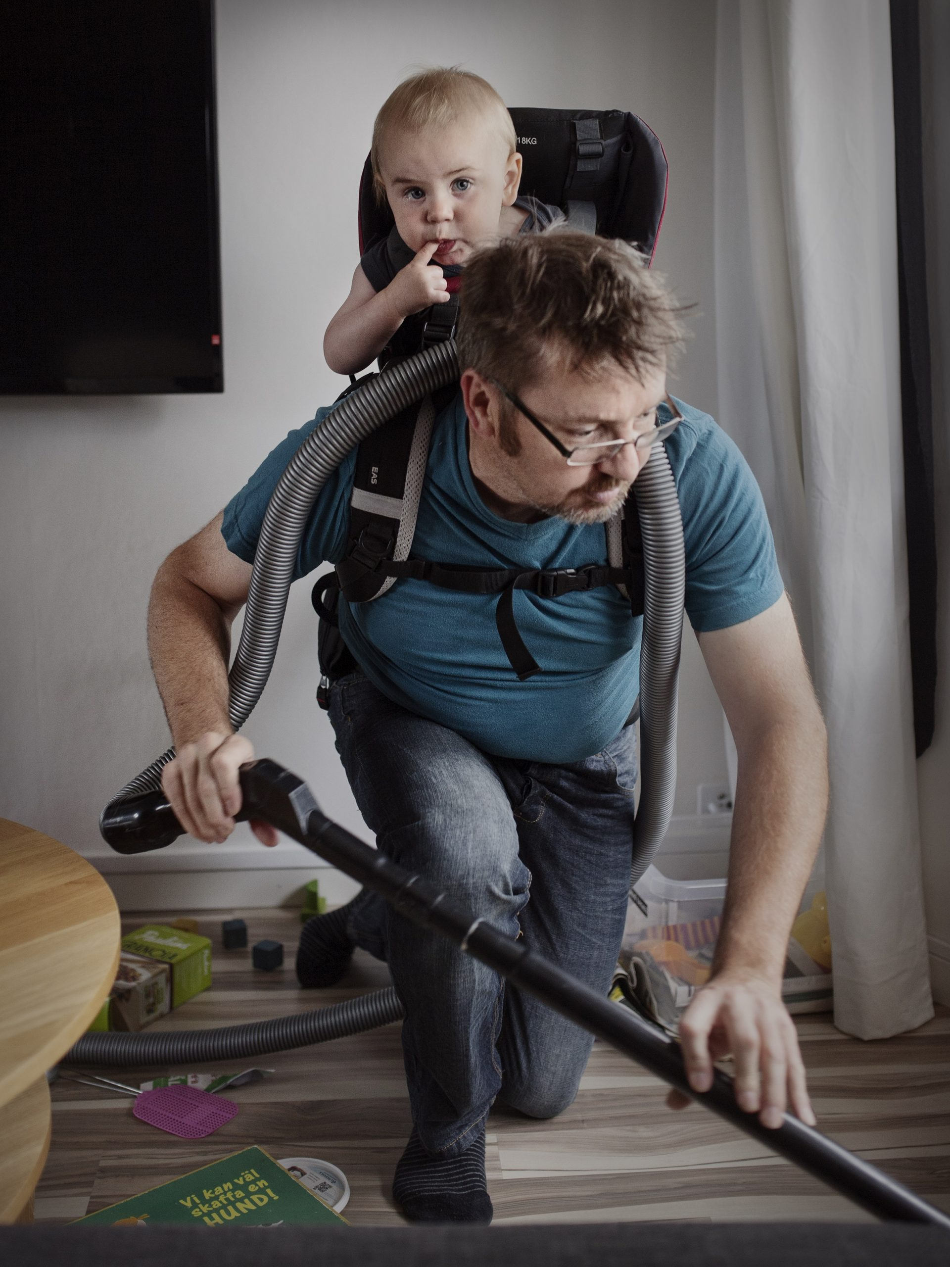 Ola Larsson, 41, Buyer On leave for eight months with his son Gustav.  ÒItÕs important that everybody is free to choose whether or not to take parental leave. There needs to be a big shift in the culture around it, and more male role models need to be given visibility. The government needs to become better at providing information about the advantages of parental leave for both parents. I had to wipe away a tear or two after I dropped my son off at daycare for the first time. It is a true gift to be able to create these kind of strong emotional ties to your child, thanks to SwedenÕs parental leave system. ItÕs almost as though you have to experience parental leave to understand what youÕd be losing, before you make the decision to work instead.Ó